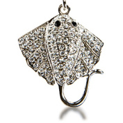 Alexander Kalifano SKC-123 Silver Sting Ray Keychain Made with. Crystals