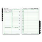 Day-timer DTM94800 Calendar Refill- Jan-Dec- 2 PPD- Folio Size- 8-.50in.x11in.