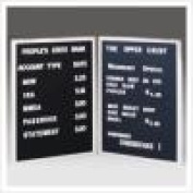 Ghent CL2418-BK 24 in. x 18 in. Open Face Alum Frame Changeable Letterbd Includes Set of Set of .75 in. Gothic Font Letters