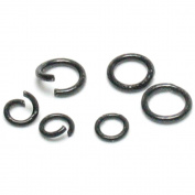 Cousin 150198 Jewellery Basics Metal Findings 400-Pkg-Black 4mm-6mm Jump Rings
