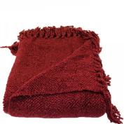 Woven Workz 018-081 Marion Throw - Raspberry