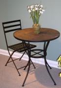 4D Concepts 601615 Black Metal Chair - Metal/Slate - 2 Pack