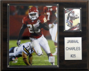 C & I Collectables 1215JCHARLES NFL Kansas City Chiefs Player Plaque