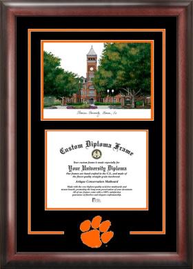 Campus Images SC994SG Clemson University Spirit Graduate Frame with Campus Image