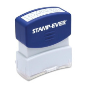 Stamp-Ever Pre-Inked Message Stamp, Paid, Stamp Impression Size