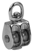 Apex Tool Group - Chain 2.5cm . Nickel Swivel Eye Double Sheave Pulley T7655312