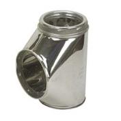 Selkirk Metalbestos Insulated Tee With Plug Stainless 6T-IT