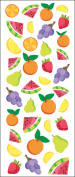 Sticko 473443 Puffy Classic Stickers-Fruit Icons
