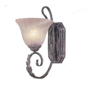 Weinstock Lighting 9881-1AG 1-Light Rustic Wall Sconce with Faux Alabaster Glass Shades - Autumn Gold