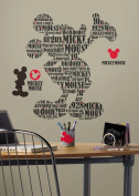 RoomMates RMK2073GM Mickey and Friends - Typography Mickey Mouse Peel and Stick Giant Wall Decals