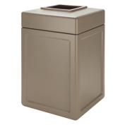 DCI Marketing 732102 143.8l Square Waste Container - Beige
