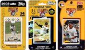 C & I Collectables PIRATES3TS MLB Pittsburgh Pirates 3 Different Licenced Trading Card Team Sets