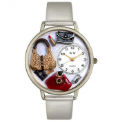 Whimsical Watches U-1010021 Unisex Purse Lover Purple Leather And Silvertone Watch