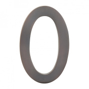 Architectural Mailboxes 3582DC Number 0 Solid Cast Brass 4 inch Floating House Number Dark Aged Copper 0
