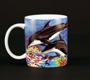 Euland China MA0-004D Set Of Two 350ml Mugs - Dolphins Underwater