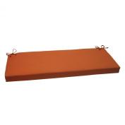Pillow Perfect 503967 Outdoor Cinnabar Bench Cushion in Burnt Orange - Orange