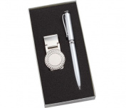 Aeropen International MCP-206 Golf Money Clip and Silver Ballpoint Pen with Gift Box