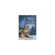 Janlynn 256903 Forever Wild Wolf Mini Counted Cross Stitch Kit-13cm . x 18cm . 14 Count