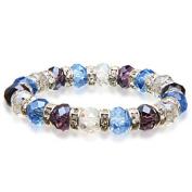 Alexander Kalifano BLUE-BGG-09 Gorgeous Glass Bracelet - Multi-Coloured