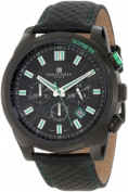 Charles-Hubert Paris 3946-BG Black-Plated Stainless Steel Case Black Dial Chronograph Watch