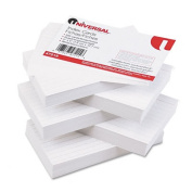 Universal 47215 Ruled Index Cards 3 x 5 White 500 per Pack