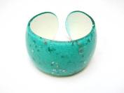 Alur Jewelry 26210AQ Sparkling Plastic Bangle in Aquamarine