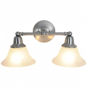 Quality Home Items 617219 Sonoma Lighting Collection, 2 Light Vanity, Brushed Nickel