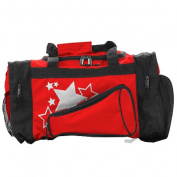 Pizzazz Performance Wear B100 -RED -L B100 Megaphone Duffle Bag - Red - Large
