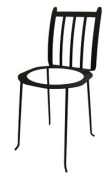 Village Wrought Iron PS-IN-D Iron Plant Stand Adirondack