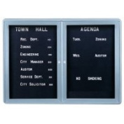 Ghent OVG2-BBK 34 in. x 47 in. 2-Door Ovation Letterboard Black - Gray Frame