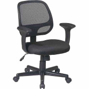 Office Star EM20222-3 Screen Back Task Chair with T Arms
