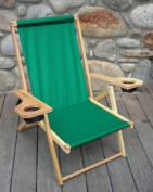 Blue Ridge Chair Works NFCH06WF Outer Banks Chair - Forest Green