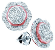 Gold and Diamonds EF8017-W 0.35CT-DIA MICRO-PAVE EARRING- Size 7