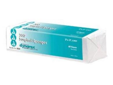 Complete Medical 12003A Gauze Sponges Bulk Non-Sterile 2 x 2 - 8 Ply