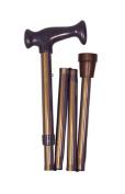 Mabis 502-1316-5400 Adjustable Folding Cane with Ergonomic Handle - Bronze