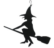 Village Wrought Iron HOS-26 Witch-Halloween Silhouette Decoration