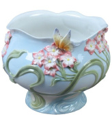 Unicorn Studios AP20289AA Freesia Flowers and Butterfly Porcelain Bowl