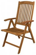 SeaTeak 60062 in.Avalonin.Folding Multi-Position Deck Chair w-arms- Oiled Finish