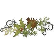 Sizzix 657467 Sizzix Sizzlits Decorative Strip Die By Tim Holtz-Festive Greenery
