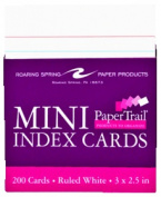 Roaring Spring Paper Products 28041 Mini-Trayed Index Cards - 200 Cards Per Package
