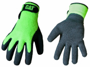 Cat Gloves Rainwear Boss Mfg Large Fluorescent Green Latex Coated Knit Gloves