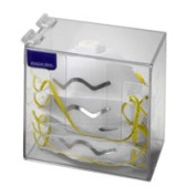 Horizon Manufacturing 5156-W Dust Mask Dispenser with Lid - White Heavy- Duty Plastic
