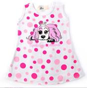 Puppy Luv Glam PLG1024_12-18 Pink Polka Dot Dress