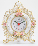 Maple's Clock LF9220 Floral Table Clock