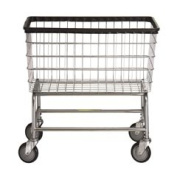R & B Wire 200F Large Capacity Wire Frame Metal Laundry Cart
