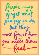 Trend Enterprises Inc. T-A67378 People May Forget What You Say Poster