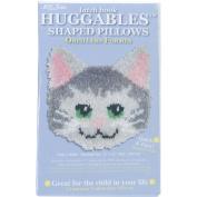 M C G Textiles 400635 Huggables Kitty Pillow Latch Hook Kit-30cm . x 30cm .