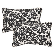 Pillow Perfect Inc. 353449 Pillow Perfect -Black/Beige