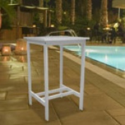 Vifah V1354 V1354 Renaissance Outdoor Hand-scraped Hardwood Bar Chair