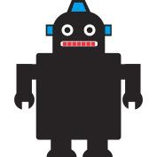 Sassafras Enterprises 3760RB Kid Robot Chalkboard